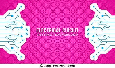 färg, blå, geometrisk, vektor, template., theme., elektronisk, bakgrund, pattern., illustration., vit, retro, form, diamant, strömkrets, design, träd, abstrakt, bord, rosa