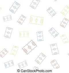 färg, eller, mönster, seamless, vit, ikon, isolerat, vektor, bakgrund., fotboll fotboll, fält