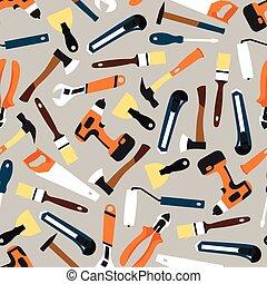 färg, mönster, byggmästare, seamless, illustration, utrustning, vektor
