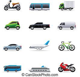 färg, -, transport, ikonen