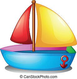 färgrik, båt