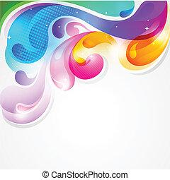 färgrik, plaska, abstrakt, måla, vektor, bakgrund