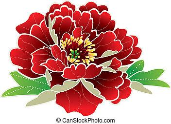 färsk, blomma, kinesisk, år
