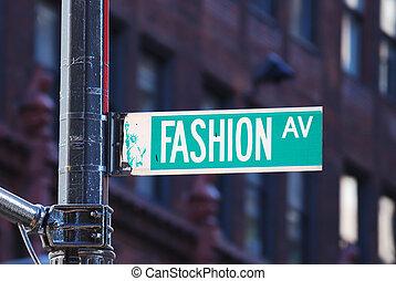 färsk, mode, aveny, york, stad