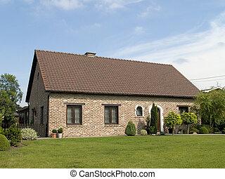 förorts-, house.