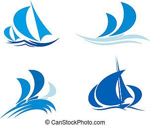 fartyg, yachter, regatta