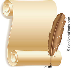 feather., papper