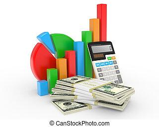 finansiell, affär, framgång, visande, kartlägga, marknaden, block