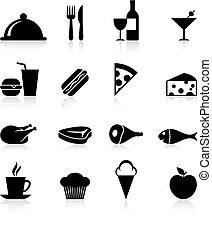 finsmakare, mat, sätta, ikon