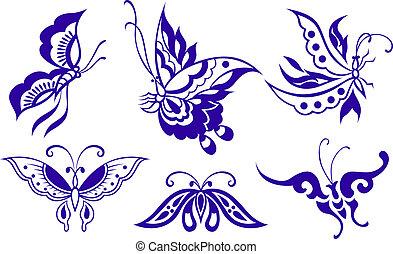 fjäril, illustration