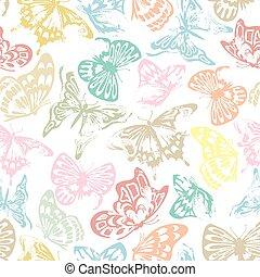fjäril, mönster