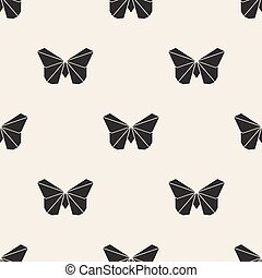 fjäril, origami, seamless, fond mönstra
