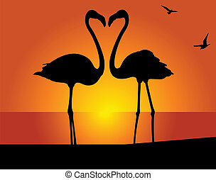 flamingo., kyss