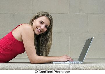 flicka, dator