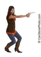 flicka, gevär