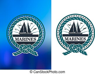 flotta, emblem, segling