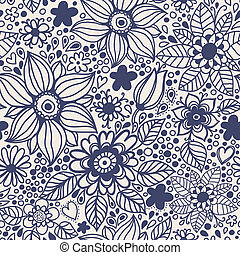 flowers., seamless, struktur