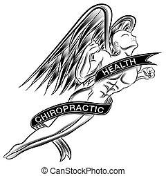 flygning, ängel, kiropraktik