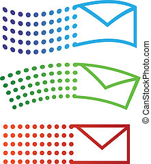 flygning, email, ikonen
