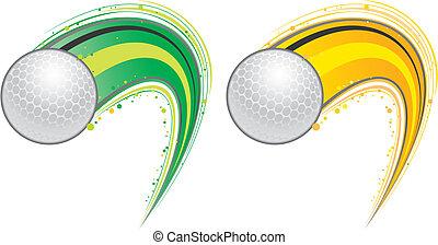 flygning, golfboll