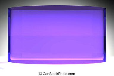 flytande, purpur, kristall, röja, framtidstrogen, panel