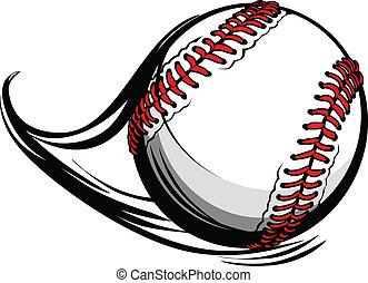 fodrar, illustration, rörelse, vektor, baseball, softboll, eller, rörelse