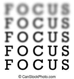 fokusera, väga, kartlägga