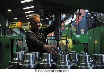 folk, arbetare, fabrik, industri