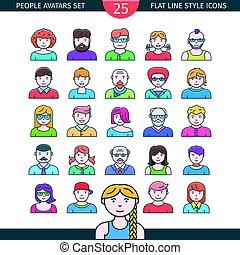 folk, avatars, ikonen