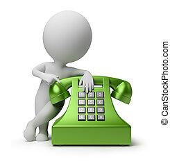 folk, -, ringa appellen, liten, 3