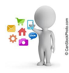 folk, -, val, applikationer, liten, 3