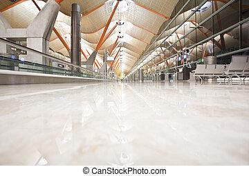folktom, terminal, flygplats