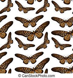 fond mönstra, seamless, fjäril