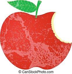 form, grunge, äpple, ätit
