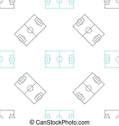 fotboll, mönster, seamless, isolerat, vektor, fält, grön, eller, ikon, fotboll, vit, bakgrund.