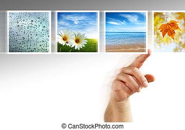 foto, touchscreen