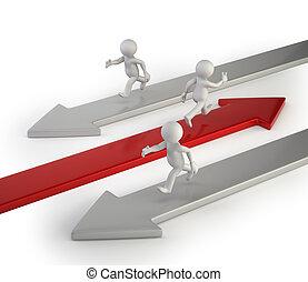 framgång, folk, -, väg, liten, dens, 3