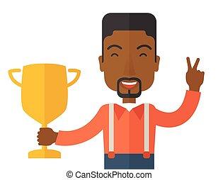 framgångsrik, businessman., afrikansk