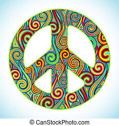 fred, färgrik