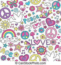 fred, kärlek, &, mönster, doodles, duva