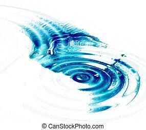 fri, skvalpar, vatten, kristall, bakgrund, vit