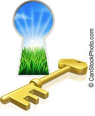 frihet, begrepp, nyckel