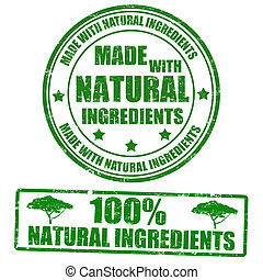 frimärken, gjord, naturlig, ingredienser