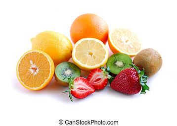 frukt, blandad