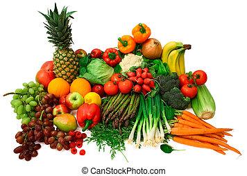 frukter, nya vegetables