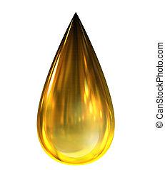 funderingar, droppe, olja