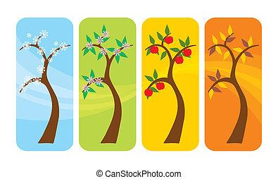 fyra kryddar, träd