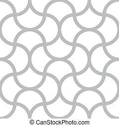 fyrkant, enkel, mönster, -, seamless, vektor, fodrar, bakgrund, monokrom, vit, geometrisk
