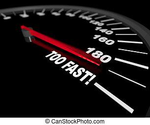 gå, fasta, hastighetsmätare, -