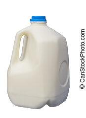 gallon, mjölk, en